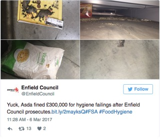 Tweet by Enfield about the case